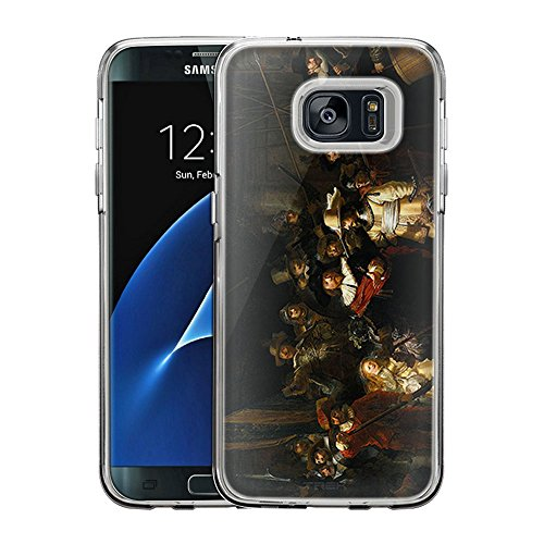 (Samsung Galaxy S7 Edge Case, Snap On Cover by Trek Rembrandt The Nightwatch One Piece Trans Case)