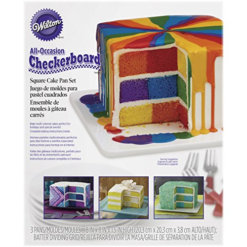 Wilton Checkerboard Cake Pan, 4 Piece Set