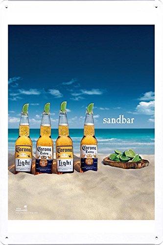 Tin Sign Metal Poster Plate  of Corona Beer: Sandbar by Food