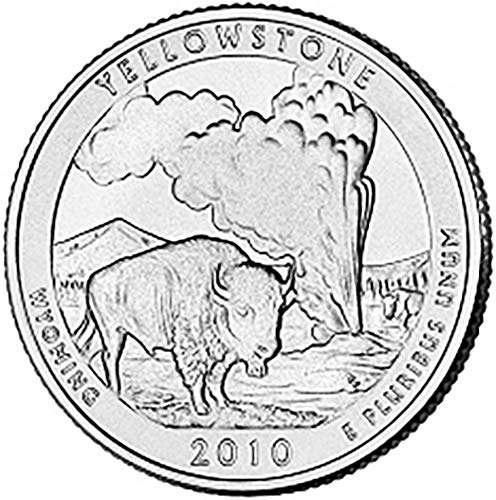 2010 P & D Satin Finish Yellowstone Wyoming National Park NP Quarter Choice Uncirculated US Mint 2 Coin Set