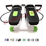 Evergrow Portable Stepper Stretchable Mini Step Machine Waist Leg Buttock Exercise Calories Burning Monitor Display---Green