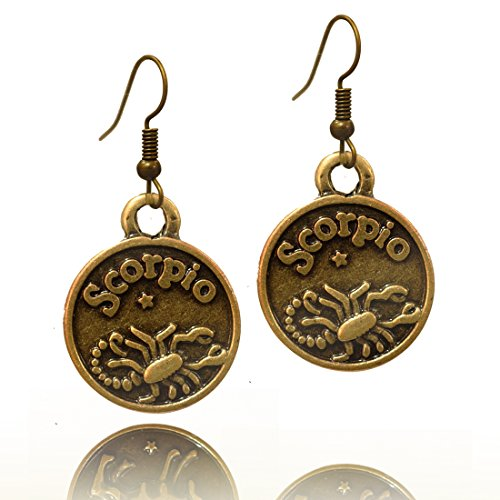 Astrology Sign Horoscope - Stay Calm SCORPIO Zodiac Sign Astrology Horoscope Hook Earrings Birthday Gift - All 12 Sun Signs Available (Scorpio)