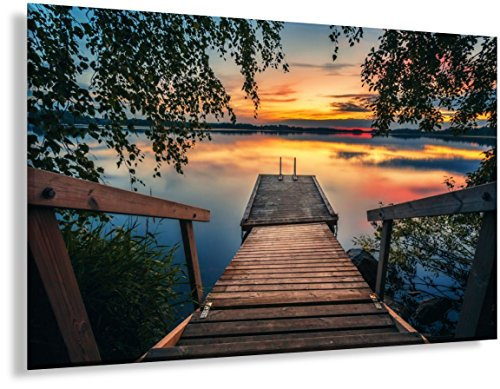 Large Wall Art Poster - Beautiful Home Decor Landscape Print of Aulanko Forest Park in Finland for Living Room, Kitchen, Bedroom & Office - an Inspiring Story Included - 23.6 X 15.7 Inches
