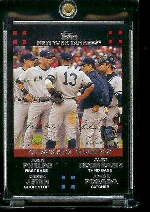 2007 Topps Derek Jeter (2007 Topps New York Yankees LIMITED EDITION Team Edition Baseball Card # NYY43 Alex Rodriguez / Derek Jeter / Jorge Posada / Josh Phelps