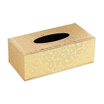 Kleenex - Soporte para caja de pañuelos, tapa de pañuelos de madera, para el baño, el hogar, la oficina, el coche talla única dorado: Amazon.es: Hogar