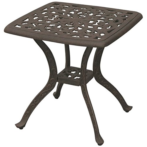 Darlee Series 80 Patio Square End Table in Antique Bronze