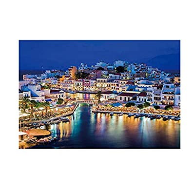Hemlock Adults Puzzles, 1000PC Landscape Jigsaw Puzzles Educational Kids Puzzle Toys Holiday Family Puzzles Game (H, Paper): Clothing