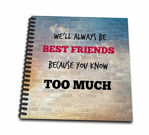3dRose db_211228_2 Best Friends. Friendship. Saying. - Memory Book, 12 by (Friendship Album)