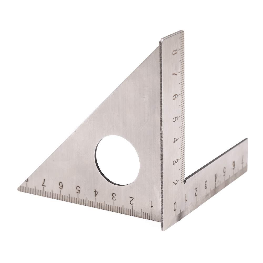 KISSTAKER Stainless Steel Woodworking Ruler, Stainless Steel Woodworking Ruler Square Layout Miter Triangle Rafter 45 Degree 90 Degree Metric Gauge Measuring Tools
