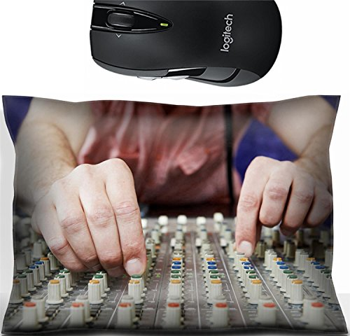 Liili Mouse Wrist Rest Office Decor Wrist Supporter Pillow close up hands of sound engineer work with faders and knobs on professional audio musical mixer 28625858 Replacement Fader Knob