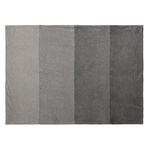 COSMOZ Gradient Grey Collection light weight fleece throw bl