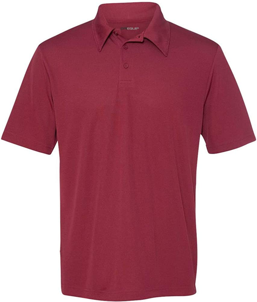Mens XS-3XL DRI-EQUIP Dry-Wicking Performance 3-Button Mesh Polos in 12 colors