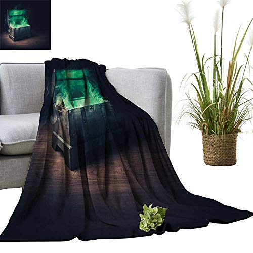 - YOYI Warm Blanket Open p Dora s Box Green Smoke on a Wooden backgroun high Contrast Winter Lightweight Thermal Blankets for Couch Bed Sofa 50