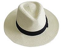 YUUVE Genuine Hand Woven Fedora Panama Hat White(Free Hair Tie Gift)