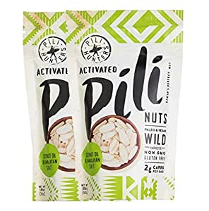 Pili Hunters Wild Sprouted Pili Nuts with Coconut Oil and Himalayan Salt, 1.85 oz. - 2-pack
