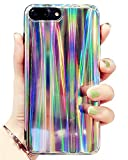 J.west iPhone 7 Plus/8 Plus Case Psychedelic Rave Holographic Iridescent Shockproof Sparkle Bling Glitter Shiny Cover Laser Beam Thin Soft TPU Protective Case for iPhone 7 Plus / 8 Plus, Colorful