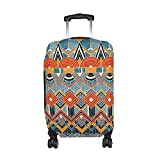 African Art Tribal Print Travel Luggage Protector Baggage Suitcase Cover Fits 29-32 Inch Luggage