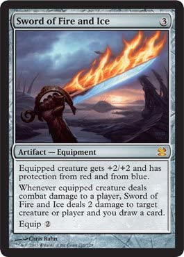 MTG Magic the Gathering Sword of Fire and Ice Darksteel Rare