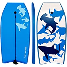 Goplus 41 inch Body Board EPS Core, IXPE Deck, HDPE Slick Bottom with Leash, Light Weight Perfect Surfing