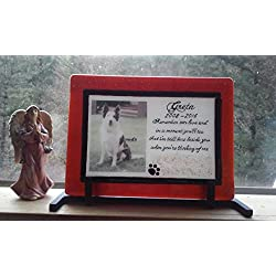 Ashes InFused Glass Cremation Art Photo Memorial Urn Iron Table Stand