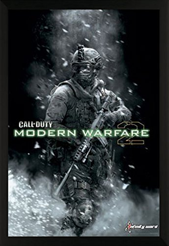 Call Of Duty Modern Warfare 2 Political War Action Video Game Print  22X34 Framed Poster