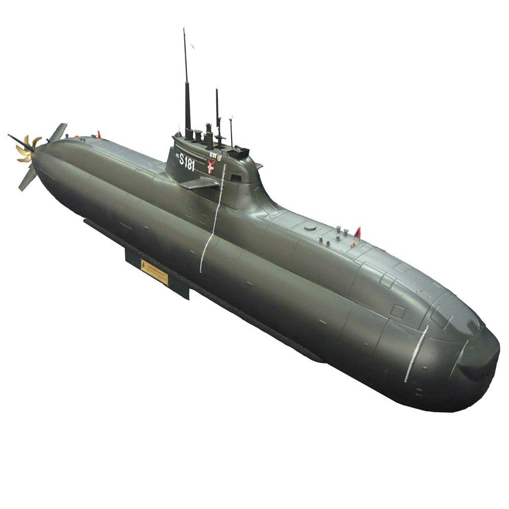 ARKMODEL 1/48ドイツモデル212A U31潜水艦精密リモコンモデルキット愛好家モデル、ダブルピストンシールコンパートメント212A KIT + WTC (Double piston tank) Kit including servos,ESC,BCU B07DFYK8N8