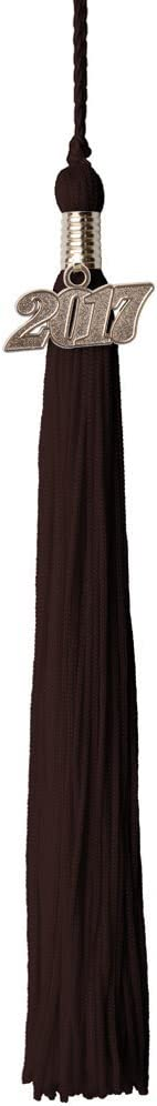 2017 Graduation Tassels with Silver Charm Brown