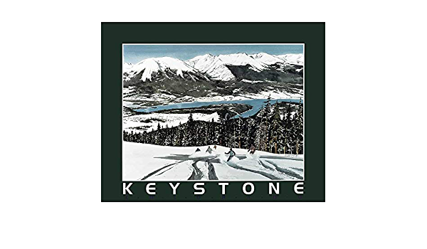 KEYSTONE MOUNTAIN SNOW SKIING 1972 VINTAGE POSTER JUMP CNG1779