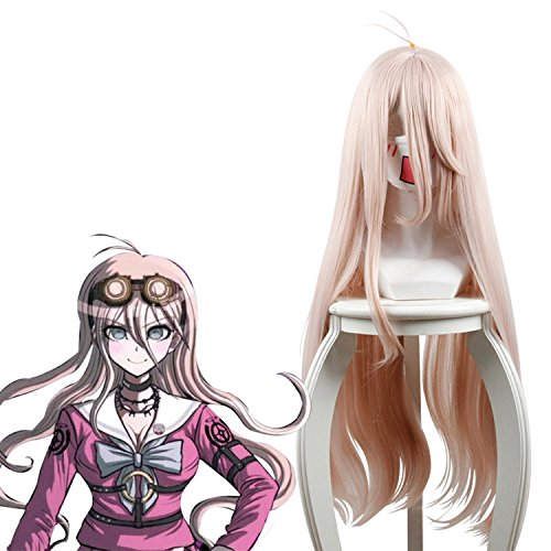 Cfalaicos 31.52'' Long Light Wave Styled Water Pink Cosplay Wig with Free Wig - Miu Free