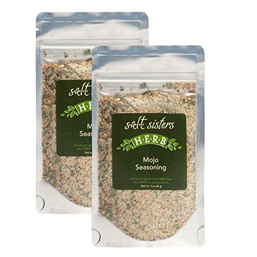 Mojo Herb 3 Ounce All Natural Sea Salt Seasoning Mix Pack of 2 (Mix Fish Bake)