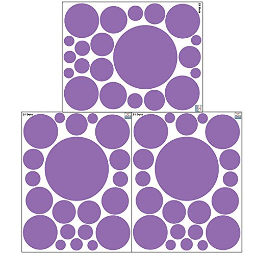 Create-A-Mural Polka Dot Wall Stickers, Wall Decor Stickers, Wall Dots, Vinyl Circle Room Dot Decals ()