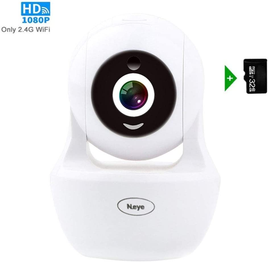 Wireless WiFi Camera, 1080P HD Wireless Night Vision Camera, Pet Monitoring Baby Camera, Built-in 32G Memory Card Cloud Service, Remote Detect for iOS Android