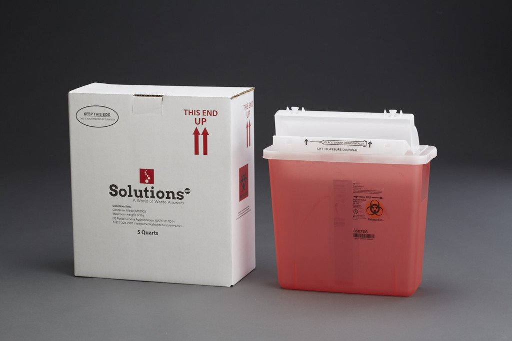 5-Quart Sharps MailBack Kit (Includes waste processing & disposal service)