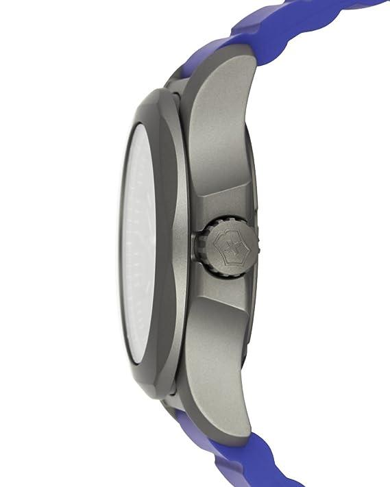 Amazon.com: Victorinox 241759 INOX Mens Watches, Grey/Blue, 45mm: Watches