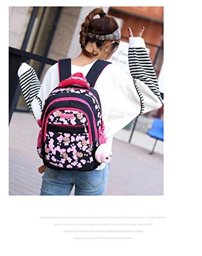 Multi à poches En Bpink Sac Fille Sac Dos Léger 2 Dos à Toile ZHXUANXUAN D'école Primaire 6 Sac UwqZqCOv6