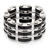 Black Link Steel Mens Ring Picture