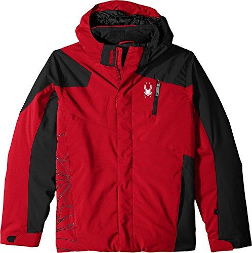 Spyder Boy's Guard Ski Jacket, Red/Black, Size - Price Velocity Goggles