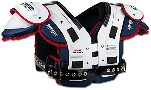 CHAMPRO Sports Amt Varsity Shoulder Pad, X-Large White/Blue