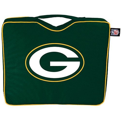 NFL Lightweight Stadium Bleacher Seat Cushion with Carrying Strap, Green Bay Packers