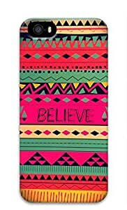 3D Hard Plastic Back Cover for iPhone 5 5S 5G,Pink Tribal Pattern Case for iPhone 5 5S 5G