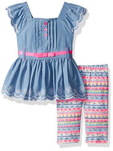Little Lass Baby Girls' 2 Pc Skimmer Set Chambray, 18M