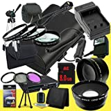 Canon EOS 70D DSLR Camera with 18-55mm STM f/3.5-5.6 Lens LP-E6 Lithium Ion Replacement Battery and External Rapid Charger + 8GB SDHC Class 10 Memory Card + 58mm 3 Piece Filter Kit + Full Size Tripod + 58mm Macro Close Up Kit + 58mm 2x Telephoto Lens + 58