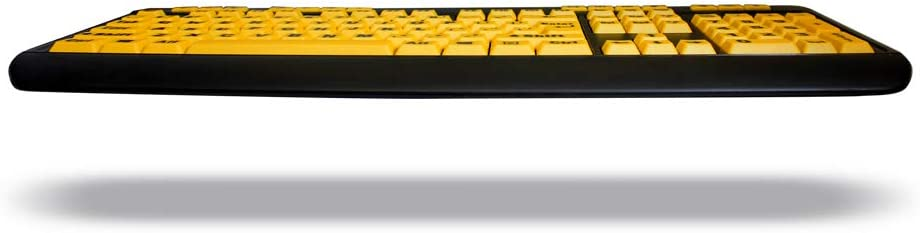 Adesso AKB-132UY EasyTouch Florescent Multimedia Keyboard Yellow WLM