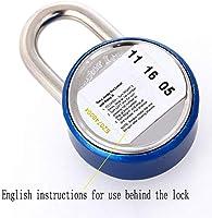 532f63c2d490 Amazon.com: GYTOO Password Padlock, Small Lock, Aluminum Alloy Round ...