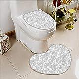 vanfan Bathroom Non-Slip Floor Mat Islamic Inspired Oriental Turkish Lacewith Traditial Impressi Cushion Non-slip