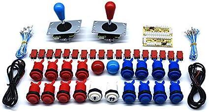 2 Player Arcade DIY Kit HAPP 8 Way Joystick Push Button USB Encoder MAME JAMMA