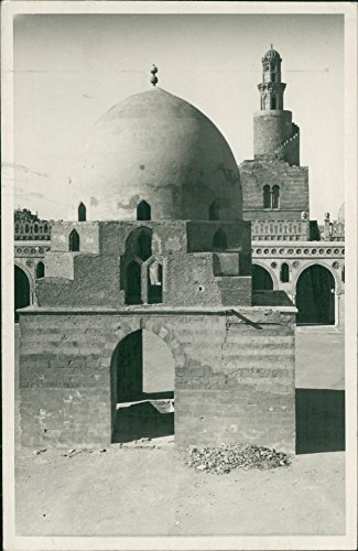 (Vintage photo of Cairo Capital of Egypt (mosque))
