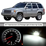 CCIYU 20pack White Instrument Gauge Cluster Replacement Light Kit for 1993-1998 Jeep Grand Cherokee