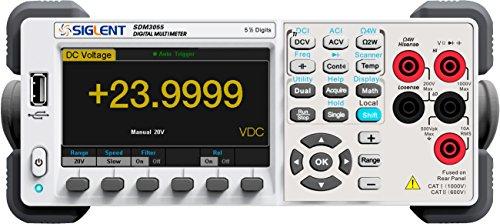 Siglent Technologies SDM3055 5.5 Digit Digital Multimeter, White/Grey ()