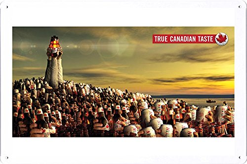 tin-sign-metal-poster-plate-8x12-of-molson-canadian-beer-true-canadian-taste-maritimes-by-food-bever